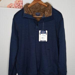 Smith's Workwear Sweatshirt Fur Button Up Blue